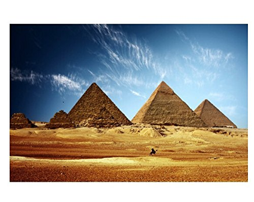 Custom Egyptian Pyramids Modern Stylish Home Decor Fashion Poster Bedroom Size (50x76cm) (Egyptian Party Decorations)