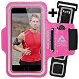 AARATEK SIGNATURE SERIES Pro Sport Armband for iPhone 6, 6s, Galaxy S6, S5, S4, iPods... (Pink) with FREE Extender - #1 for running, workouts, cycling, fitness, or any activity outside or in the gym!