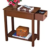 Collections Etc Side Table with Drawer and Shelf
