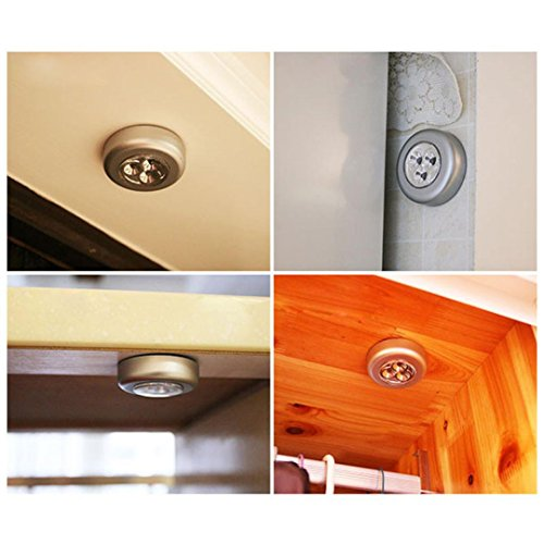 Mokao 3 led wall light kitchen cabinet closet lighting for Kitchen cabinets lowes with life is good car sticker