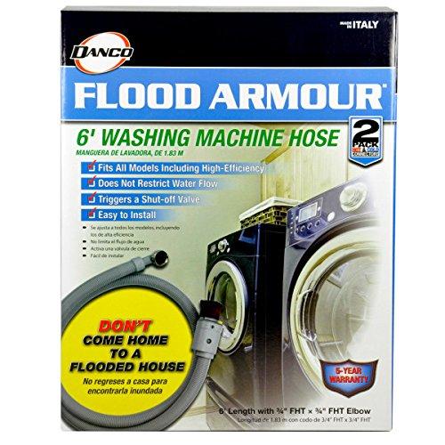DANCO Flood Armour Washing Machine Hose, Grey, 6 ft, 2-Pack (10763) by Danco (Image #10)