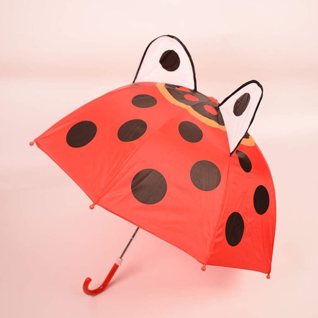 1# Coccinelle ZOOMY Parapluie Enfants avec Oreilles Animales Gar/çons Filles Dessin Anim/é Long Poign/ée Parapluie L/éger