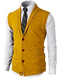 Amazoncom Yellows Vests Sweaters Clothing Shoes Jewelry