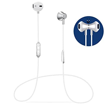 Auricular Bluetooth V4.1 Magnético Auriculares Deportivos con Duración 6-8 Horas, Cascos