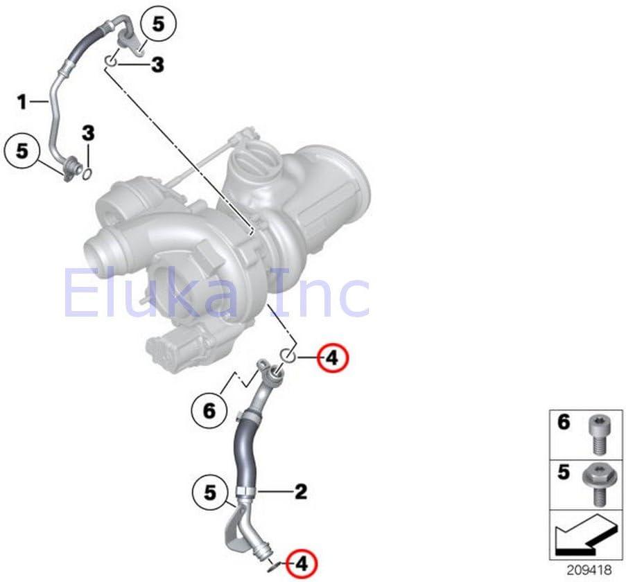 11 X 1.78 Mm Feed Line 2 x BMW Genuine Oil Supply Turbocharger Oil Line O-Ring X5 M X5 35iX X5 50iX X6 35iX X6 50iX X6 M Hybrid X6 135i X1 35iX 135i 335i 335xi 335i 335xi 335i 750i 750iX ALPINA B7 ALPINA B7X 740i 750i 750iX ALPINA B7 ALPINA B7X 750Li 7