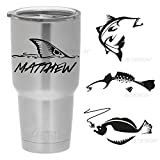 Personalized Vinyl Decal for Yeti or other Insulated Mugs - Redfish, Trout, Flounder and Others