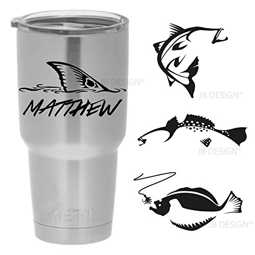 Amazoncom Personalized Vinyl Decal For Yeti Or Other Insulated - Vinyl stickers for cups