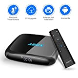 2018 Model GooBang Doo ABOX A4 Android 7.1 TV Box with Voice Remote Ultra 4K HD Smart TV Box 2GB RAM 16GB ROM Bluetooth 4.0 S905W Quad Core A53 Processor 64 Bits
