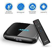 GooBang Doo 2018 Model ABOX A4 Android 7.1 TV Box Voice Remote Ultra 4K HD Smart TV Box 2GB RAM 16GB ROM Bluetooth 4.0 S905W Quad Core A53 Processor 64 Bits