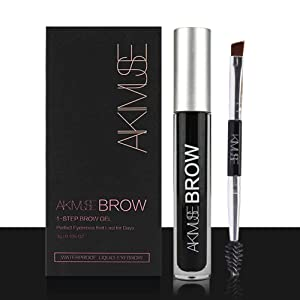 Eyebrow Gel - Waterproof, Natural, Long Lasting, Sweat Resistant, Transfer Proof, Fills and Thickens Brows, Smudge-Proof Tinted Liquid Brow Makeup Gel