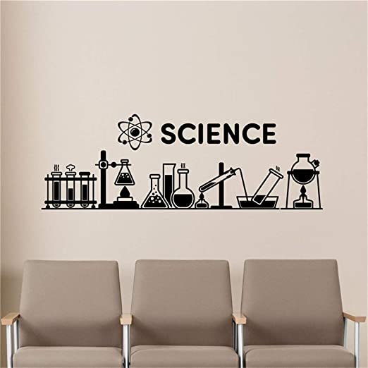 yiyiyaya Ciencia Tatuajes de Pared Química Aula Decoración ...