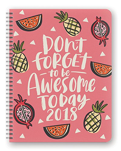 Orange Circle Studio 2018 Extra Large Flexi Planner, Aug. 2017 - Dec. 2018, Be Awesome Today