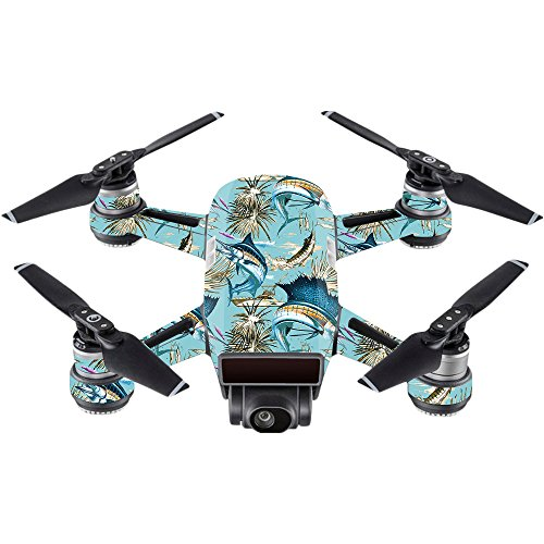 - MightySkins Skin Compatible with DJI Spark Mini - Island Fish | Protective, Durable, and Unique Vinyl Decal wrap Cover | Easy to Apply, Remove, and Change Styles | Made in The USA