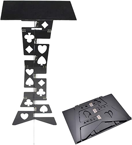 Aluminum Magic Folding Table Alloy , Magician s Best Table, Stage, Close-up, Illusions, Accessories Black