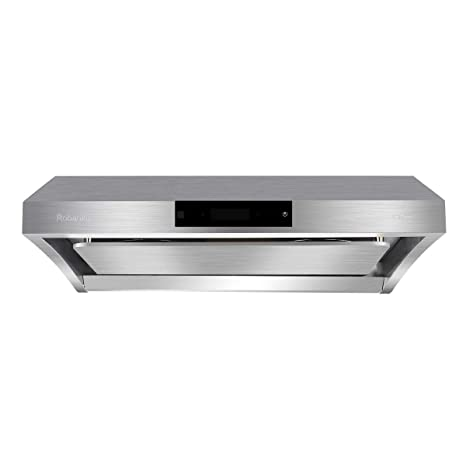 "Amazon.com: Robanku 30"" Wall-Mounted Range Hood, 860CFM Stainless on kitchen wood cabinet hoods, kitchen hoods blowers, kitchen hoods stainless steel, kitchen hoods island, kitchen remodel white cabinets, kitchen hoods decorative, kitchen range, kitchen hoods home, kitchen hoods commercial,"