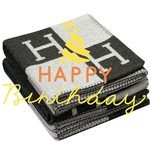 - MOS Marvin Rick Initial Letter H Cashmere Knitted Throw Blanket for Couch/Chair/Love Seat/Car Camping Blanket Shawl 55