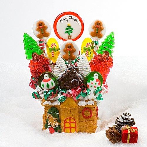 Gingerbread House Lollipop Bouquet by Escape Concepts