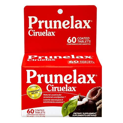 (Prunelax Ciruelax Natural Laxative Regular Tablets, 60 Count)