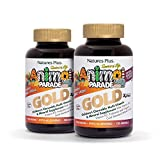 Natures Plus Animal Parade Source of Life Gold Childrens Multivitamin (2 Pack) – Assorted Cherry, Orange & Grape Flavors – 120 Chewable Animal Shaped Tablets – Organic, Gluten Free – 120 Servings Review