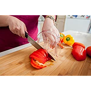 Knife Glider Kitchen Home Hand Finger Guard Protector Shield Chopping Cutting Slicing Peeling Multi Food Cooking Preparation Tool 51z7w04nGqL