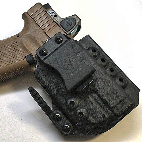 Werkz M6 Modular Holster for Glock 19 / 19x / 23/32 / 45 Gen 3/4/5 with Olight PL-Mini Valkyrie 2, Right, Solid Black (Best Glock 19 Gen 4 Iwb Holster)