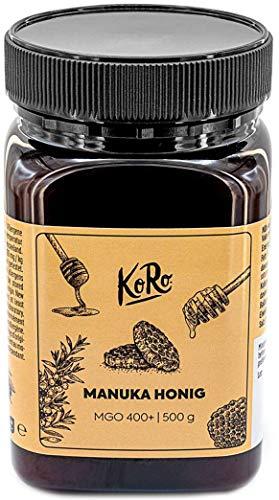 KoRo - Manuka Honig 400 + MGO 500 g - 100 % reines Naturprodukt mit Aktiver Wirksamkeit