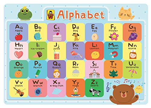 UNCLE WU Alphabet Chart Educational Placemats - Kids Placemats