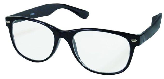 1d9d4e3ba24e High Power Magnifying Reading Glasses in Cool Jet Black Frame (Black, 5.50)