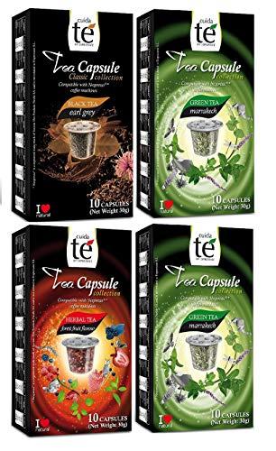 Capsulas de Te Nespresso Cuidate - Degustacion 60 Capsulas Compatibles - 3 Sabo