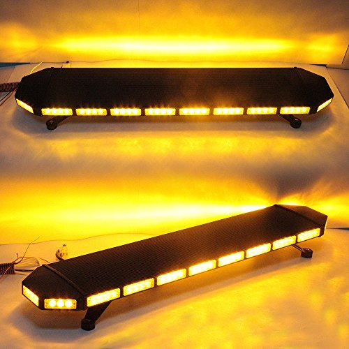 "UPC 611434535763, GPPOWER 46"" Inch Amber Low Profile Roof Mount Tow Truck Construction Vehicle Strobe LED Light Bar (AMBER/AMBER)"