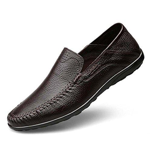 Nuevo Tamaño Mediana de de de 44 Zapatos Zapatos Informales de Negocios Edad para Padre Color Tamaño Guisantes Marrón Gran Zapatos Hombres de Respirables OxCq4CUT