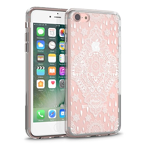 huge selection of a7346 30ad1 iPhone 8 Clear Case, iPhone 7 Case, CASESOCIETY Mandal Art Clear Design  Transparent Plastic Hard Back Case TPU Bumper Protective Rubber Case Cover  ...