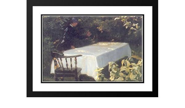 Amazon.com: Mesa en el jardín 25x29 Framed and Double Matted ...