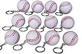 Novel Merk 12 Pack Baseball Keychains for Kids Party Favors & School Carnival Prizes