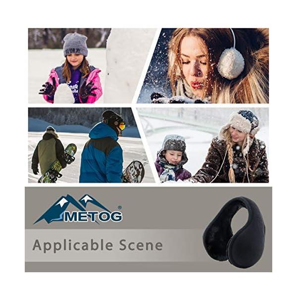 Metog Unisex Foldable Ear Warmers Polar Fleece/kints Winter EarMuffs
