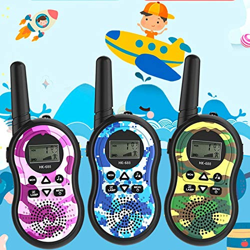 HM2 Children's Toy Walkie-Talkie Handheld Intercom Multi-Party Call, Suitable for Parent-Child Interactive Outdoor Toys,Blue by HM2 (Image #1)