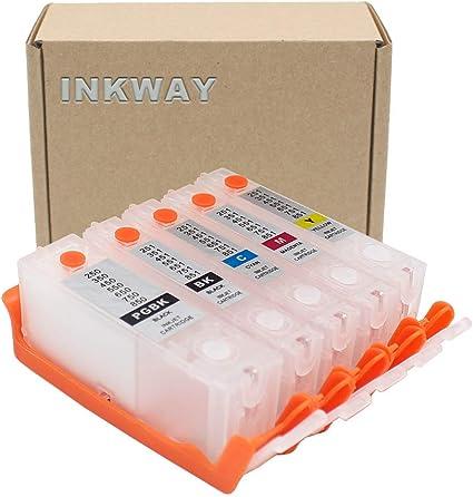INKWAY PGI-550 CLI-551 - Cartucho de Tinta vacío Recargable para ...