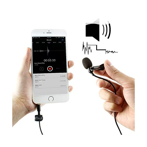 Mini Omnidirectional Condenser Mic Vlog Single-Head Clip-on for IPHONE SAMSUNG #