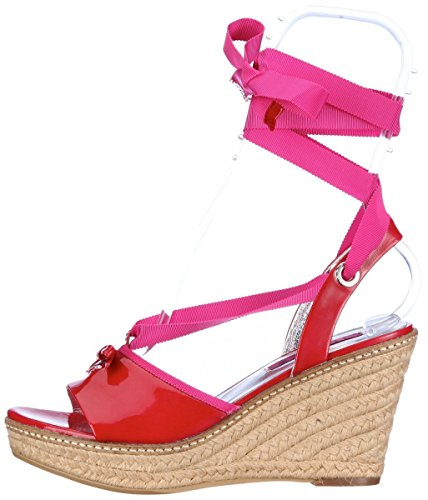 JETTE Colour Fever - Sandalias de vestir de charol para mujer Rojo Red Pink Rojo - Red Pink