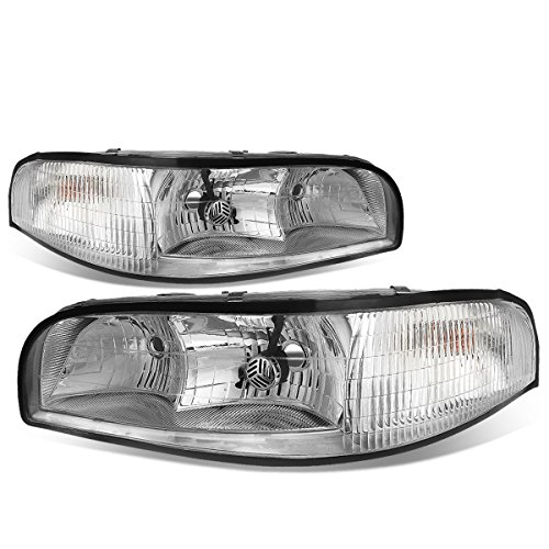 Buick Lesabre Headlamp Assembly - For Buick LeSabre Pair of Headlight (Chrome Housing Clear Corner)