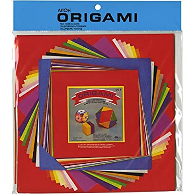 One Package of 55 Sheets Origami Solid Color Paper