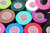 Vet Tape Wrap, Self Adherent Rap Tape, Adhering Stick Bandage, Self Grip Roll (2, 3, or 4 Inches Wide) x 15 Feet - Assorted Colors, Single Roll