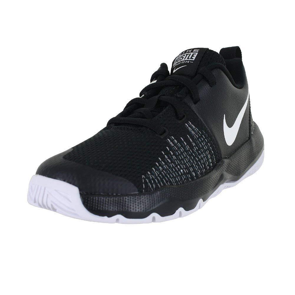 Nike Boy's Team Hustle Quick Basketball Shoe, Black/White, 13C