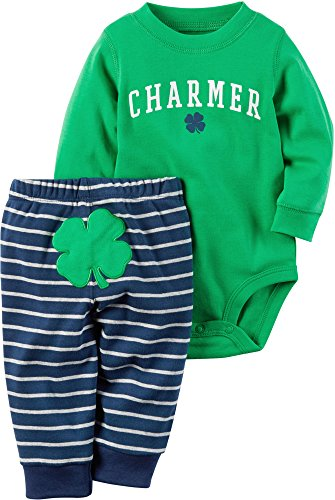 [Carter's Baby Boys 2 Pc Sets 119g169, Green, 3M] (Baby St Patricks Day Clothing)