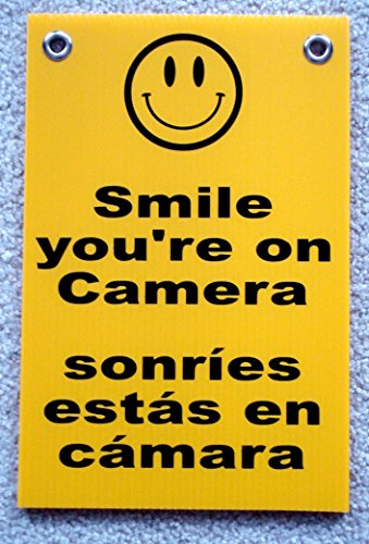 1-Pc Glistening Unique Smile You're On Camera Security Signs