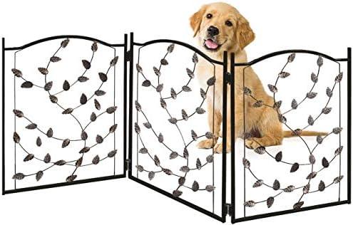 Amazon.com: Bundaloo Puerta plegable de metal para mascotas ...