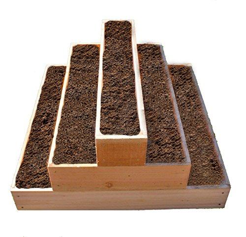 Cedar Raised 3 Tier Planter Bed Garden Kit
