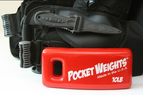 Pocket Weights 10Lb. BCD Scuba Weight (Single) by Pocket Weights