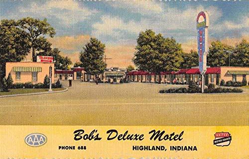 Highland Indiana Bob's Deluxe Motel Roadside America Vintage Postcard JJ649311