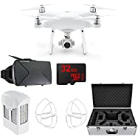 DJI CP.PT.000689 Phantom 4 Advanced Quadcopter with Intelligent Flight Battery, Propeller Guards, Carrying Case, VR Vue Virtual Reality Viewer and 32GBMicroSD Memory Card with SD Adapter